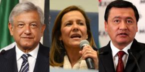 #Rumbo2018 / AMLO y Margarita empatados, Osorio muycerca