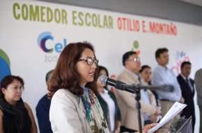 """#CaraFeliz / Se inaugura el Comedor Escolar """"Otilio Montaño"""" en la comunidad de San Antonio Gallardo#Celaya"""