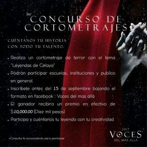 #CulturaLocal / Se prepara el1er Concurso de Cortometrajes, VOCES DEL MASALLÁ